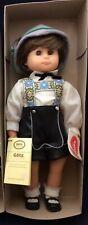 "Vintage German Modell 19"" Boy Doll 80s by Gotz Maker First American Girls Nib"