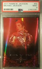 2011 Michael Jackson Panini King of Pop Silver Foil Red Refractor PSA MINT 9