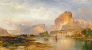 Thomas Moran Cliffs of Green River Giclee Canvas Print Poster LARGE SIZE
