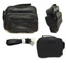Mens Womans Messenger Bag Man Bag Shoulder Bag In Black Leather Camera Travel