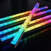 2X(COOLMOON Computer 5V/4PIN Aluminum RGB Color Light Strip Light with Magn T5G3