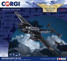 Nueva Escala Corgi 1:72nd Messerschmitt Bf110E noche Fighter Modelo G9+EC.