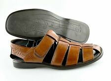 Men's TO BOOT NEW YORK 'Barbados' Brown Leather Fisherman Sandals Size US 12 - D