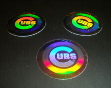1989 Upper Deck Baseball Hologram Stickers Chicago Cubs RETRO LOGO (Lot x3)
