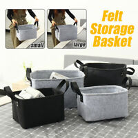 Felt Storage Basket Foldable Box Clothes Organizer Sundries Pouch Home & Living