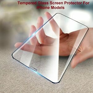 3D Edge Full COVER TEMPERED GLASS Screen Protector For iPhone XR X 11 13 Pro MAX