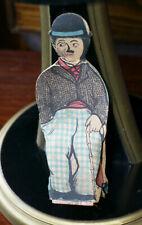 Antique very rare Charlie Chaplin paper squeak toy, Japan, silent movie, tramp