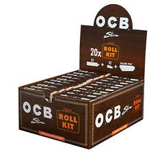OCB RollKit-KS Slim Unbleached Virgin Paper Rolling Tray-20 Heftchen + 32 Tips