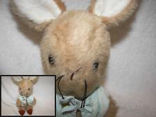 "Eden Toys Peter Rabbit w/ Blue Jacket 11"" Plush Stuffed Animal brass buttons"