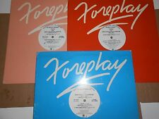 """12"""" PROMO Foreplay-A & M PRE-RELEASE SAMPLER-Lot OF 3 -Various-"""