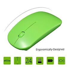 2.4G Ultra-Thin Wireless Mouse Scroll USB Optical Mice For Computer Laptop PC US