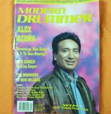 Modern Drummer Magazine 1990 Alex Acuña, Alice Cooper: Eric Singer