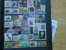 Flowers Worldwide. Private lot of 40 different Stamps. Some high Values.