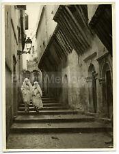 Alger : femmes algériennes dans la Casbah - Photo ancienne Algérie 1935