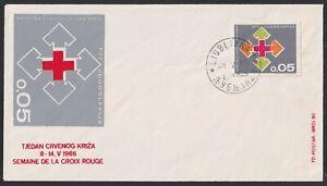 Yugoslavia, 1966, Red Cross, Tax obligatory stamps, rare FDC (Ljubljana)