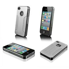 Luxury Shockproof Aluminum Chrome Back Hard Case Cover For Apple iPhone 4 4S