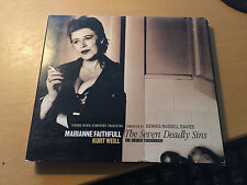 """Marianne Faithfull """"Weill: The Seven Deadly Sins and other Songs"""" cd"""