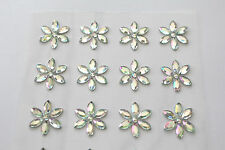 12 x 15mm Crystal Sunflower AB Sticker Self Adhesive Cards Invites Flowers