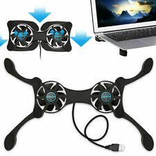 USB Cooling Fan Pad 2 Foldable Quiet Slim Cooler Fans Stand for Notebook Laptop