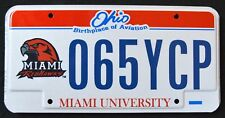 "OHIO "" MIAMI REDHAWKS NFL FOOTBALL SPORT "" OH Specialty University License Plate"