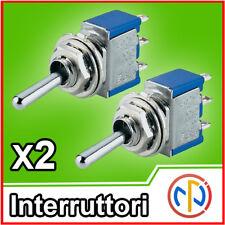 2x Interruttore a levetta Deviatore switch 3 posizioni ON-OFF-ON