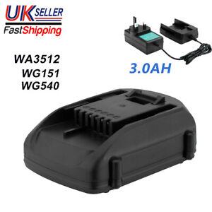 For Worx WA3512.1 WG540 WG151 Rockwell RW9161 3.0AH 18V Li-ion Battery/Charger
