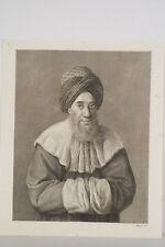 Gravure XIX Portrait CHEYKH SADAT du Divan d'Egypte sous Bonaparte Morel graveur