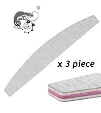 3 x Nail Files HALF MOON Shape 100/100 New TOP EUROPE QUALITY- MADE IN GERMANY