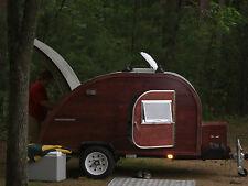 Big Woody Teardrop Camper Trailer Plans CD  FREE SHIP