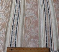 "Antique French Cotton Rose Stripe Ticking Fabric c1920~Brick & Gray~L-32""X W-31"""
