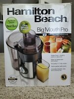 Hamilton Beach Stainless Steel Big Mouth Juice Extractor, New, open box