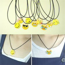 Fashion Charms Necklace EMOJI Emoticons Pendant String Chain For Women Girl PGFR