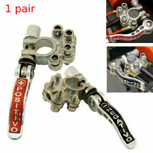 2 x Clamp Universal Car Battery Terminal Clip Connector Pure copper Truck Silver