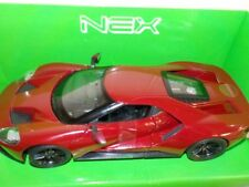 Ford GT  2017, Metallic Red  1/24 Welly Model Car