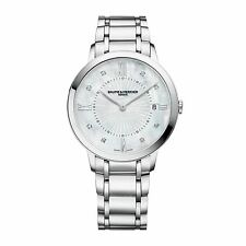 Baume and Mercier Classima MOP Dial Diamond Steel Ladies Watch MOA10225