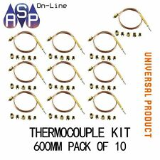 UNIVERSAL THERMOCOUPLE 600MM/60CM KIT PACK OF 10  - TO SUIT MOST APPLIANCES