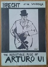 The Resistible Rise of Arturo Ui programme Vanbrugh Theatre Club February 1979