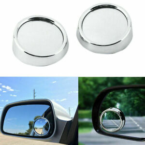 """2.0"""" Angle Convex Round Rear Wide View Blind Spot Mirrors for Car Motorcycle"""