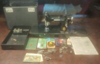 Singer Sewing Machine Featherweight 221 Quilter LOT Accessories 1939 Works