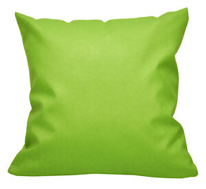 Pc510a Lime Faux Leather Cross Pattern PVC Cushion Cover/Pillow Case*Custom Size