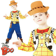 Woody Age 5-6 Childs Fancy Dress Cowboy Disney Toy Story Boys Kids Book Costume