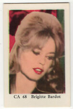 1960s Swedish Film Star Card CA 68 French Sex Symbol Brigitte Bardot nr mint