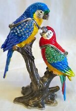 JULIANA TREASURED TRINKETS PARROT METAL TRINKET BOX - TROPICAL BIRD MACAW 15619