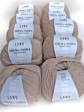 500g Lang Yarns Thema Nuova Merino fine 22 Beige Hellbraun Wolle stricken