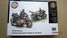 German Motorcycle Troops on the Move  WWII    1/35 Master Box  # 3548f