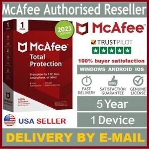 McAfee Total Protection Antivirus 2021 (5Year 1Device) For Windows, Android, iOS