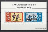Germany 1976 Sc B532 Montreal Olympics Semi-postal Souvenir Sheet MNH
