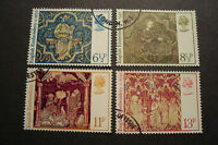 GB 1976 Commemorative Stamps~Christmas~Fine Used Set~ex fdc~UK Seller
