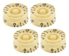 CREAM EMBOSSED SPEED KNOBS FOR GIBSON LES PAUL / EPIPHONE GUITAR (4-PACK) *NEW*