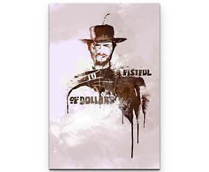 A Fistful of Dollars Clint Eastwood als Premium Leinwandbild